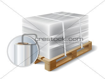 cargo on a wooden pallet