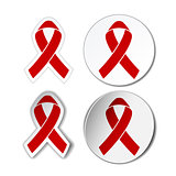 Red ribbon - AIDS awereness sign.