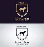 Abstract pet dog logo concept