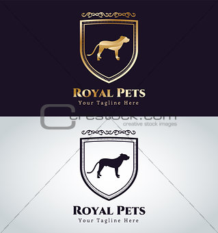 Abstract pet dog logo concept
