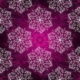 Vintage purple seamless pattern