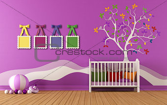 Bedroom for baby girls