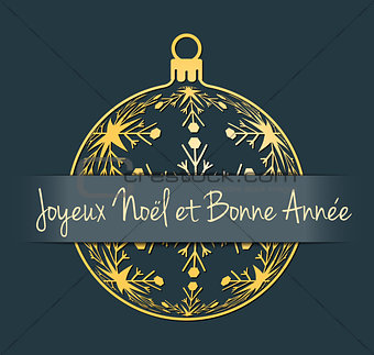 French Christmas and New Year background