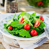 Rocket (Arugula) and Cherry Tomato Salad