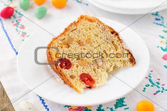 A Slice of Kulitch (Kulich), Russian Easter Sweet Bread