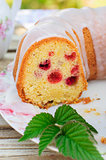 Lemon and Caraway Seed Bundt Cake with Raspberries