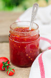 Tomato and Chili Jam in a Clear Jar