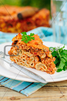 A Piece of Bolognese Pasta Bake