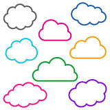 Colorful cloud outlines collection