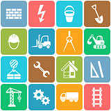 Vector abstract construction icons