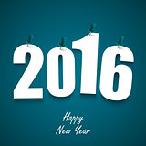 Blue New Year wishes with pins template