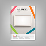 Brochures book or flyer with light boards template