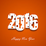 New Year wishes with circles on an orange background