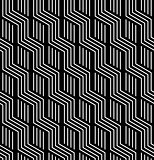 Seamless geometric texture. Striped zigzag lines.