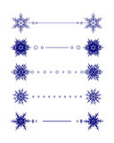 Vector snowflakes divider design