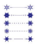 Vector snowflakes divider design