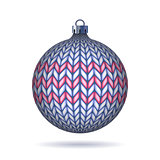 Light blue Knitted Christmas Ball