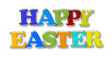 Happy Easter Greeting Isolated on White