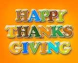 Happy Thanksgiving Colorful Letters