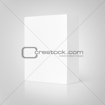 Blank white cardboard box