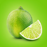 Citrus lime fruit with slice