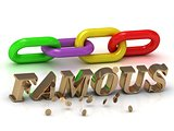 FAMOUS- inscription of bright letters and color chain