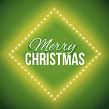 Congratulation to Christmas with green lights