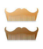 Vector hipster style illustration of combs in shape of mustaches