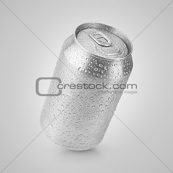 330 ml aluminum can with water drops