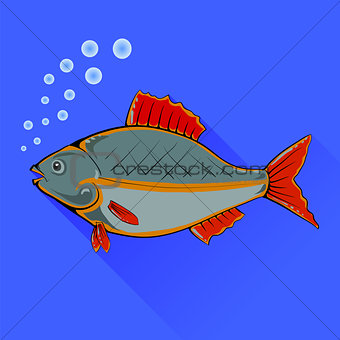 Fish With Red Fins