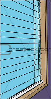 Close Up of Open Blinds