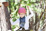 kid in adventure park