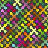 Abstract colorful shapes pattern background