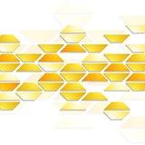 Geometric shapes on white background. Tech design