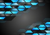 Abstract dark technology corporate background