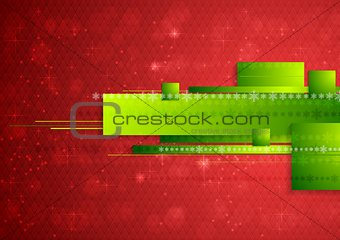 Bright abstract tech Christmas background