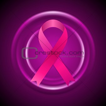 Breast cancer awareness month. Abstract circles and ribbon design