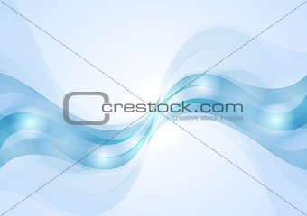 Abstract blue wavy corporate background