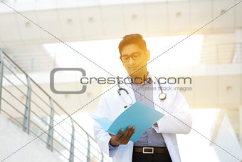 Asian Indian medical doctor portrait