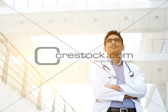 Asian medical doctor portrait