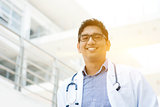 Asian Indian medical doctor smiling
