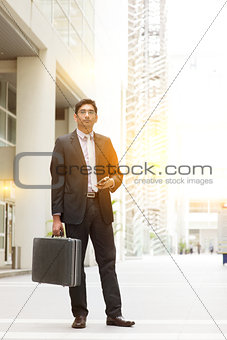 Asian Indian businessman full length