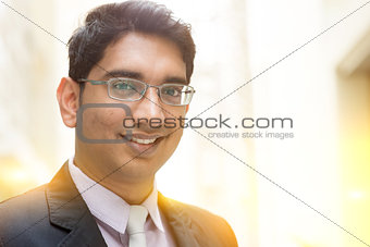 Asian Indian businessman smiling