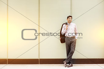 Asian Indian business people full length