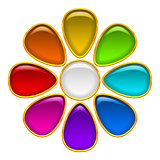 Button, Colorful Flower