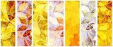 Set of grunge banners with autumn leaves
