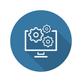 Data Management Icon. Flat Design.