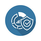 Data Protection Icon. Flat Design.