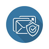 E-mail Protection Icon. Flat Design.