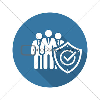 Business Protection Icon. Flat Design.